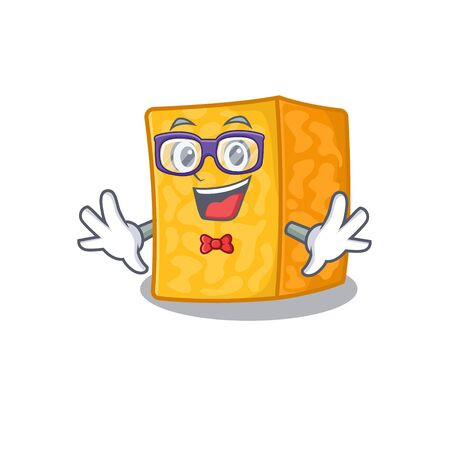 cartoon character of Geek colby jack cheese design