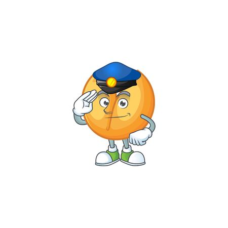 A character design of chinese fortune cookie in a Police officer costume. Vector illustration Stok Fotoğraf - 138438880