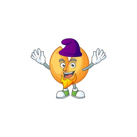 Cute chinese fortune cookie mascot cartoon dressed as an Elf. Vector illustration Çizim