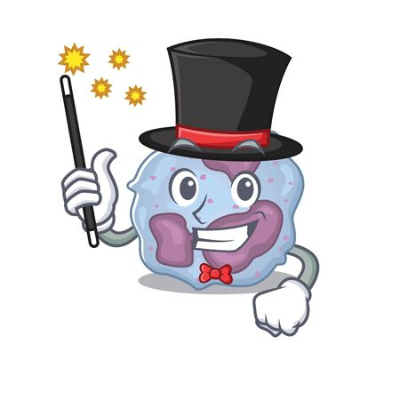 A picture of leukocyte cell performance as a Magician. Vector illustration Vectores