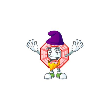 Cute chinese square feng shui mascot cartoon dressed as an Elf Illustration