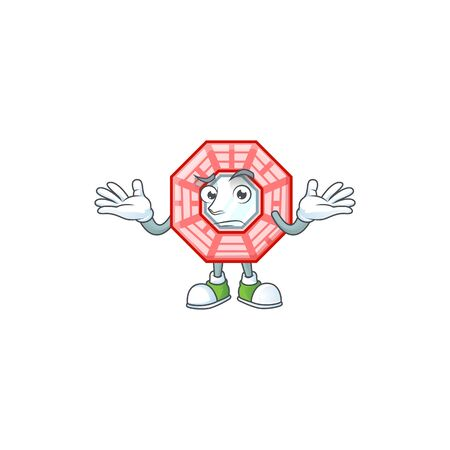 Super Funny Grinning chinese square feng shui mascot cartoon style