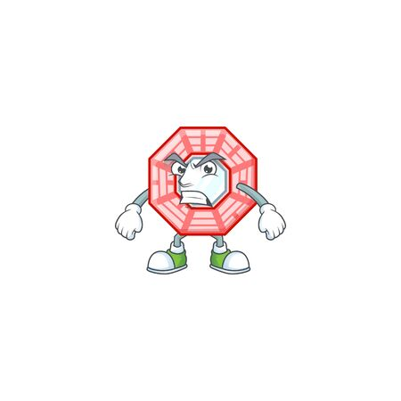 cartoon character of chinese square feng shui with angry face Stock fotó - 138467686