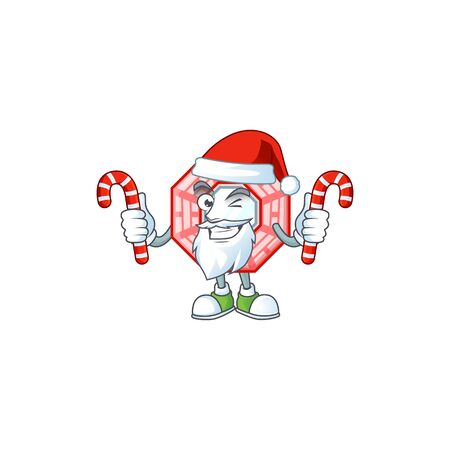 Chinese square feng shui Cartoon character in Santa costume with candy Standard-Bild - 138468575