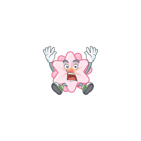 An icon character of chinese pink flower style with shocking gesture Illustration