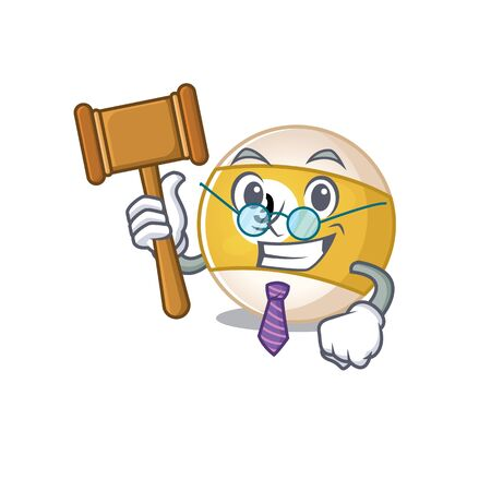 Smart Judge billiard ball in mascot cartoon character style