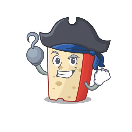 cool and funny dutch cheese cartoon style wearing hat
