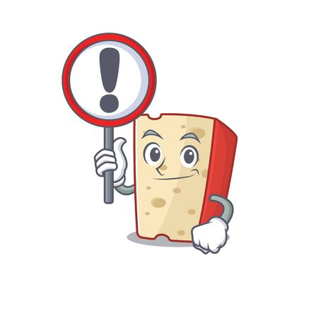 cool and funny dutch cheese raised up a Sign. Vector illustration 向量圖像