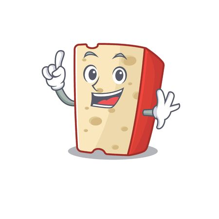 One Finger dutch cheese in mascot cartoon character style