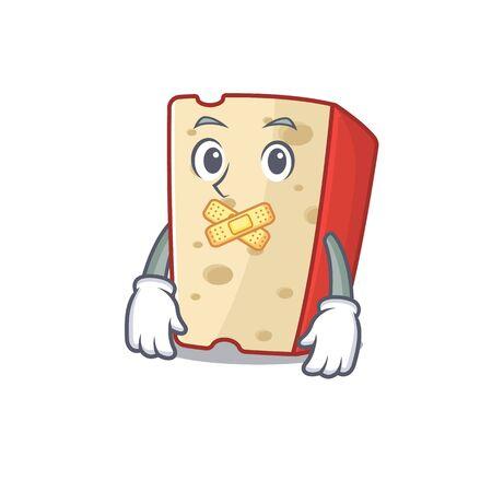 a silent gesture of dutch cheese mascot cartoon character design Illustration