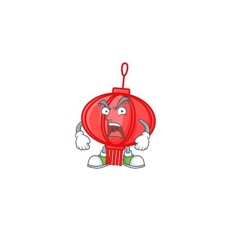 Chinese lampion cartoon character design having angry face
