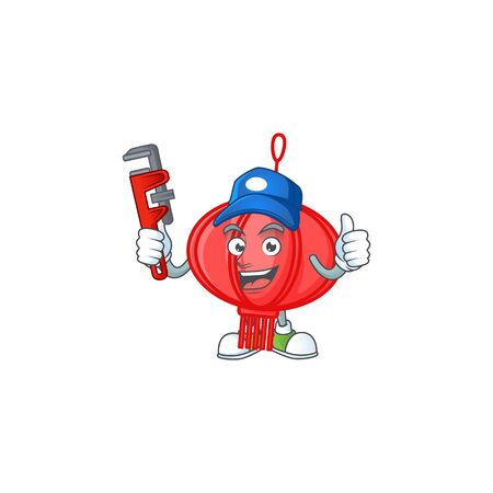 Cool Plumber chinese lampion on mascot picture style