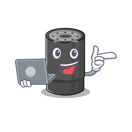 Caractère intelligent du filtre à huile fonctionnant avec un ordinateur portable