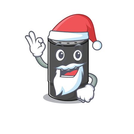A picture of Santa oil filter mascot picture style with ok finger