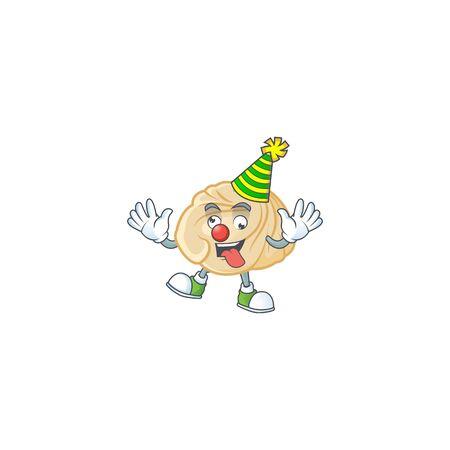 Funny Clown dumpling cartoon character mascot design. Vector illustration