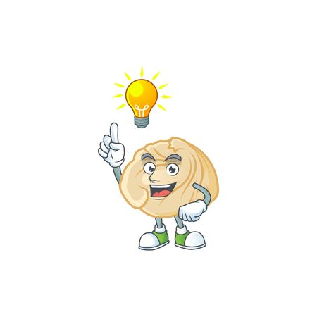 Have an idea gesture of dumpling cartoon character design. Vector illustration