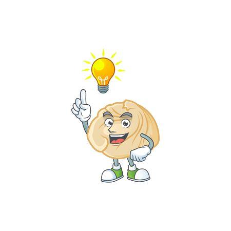 Have an idea gesture of dumpling cartoon character design. Vector illustration 일러스트