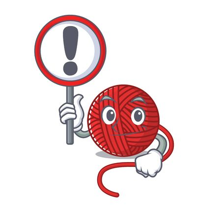 cool and funny red wool yarn raised up a Sign. Vector illustration Illustration