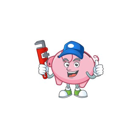 Cool Plumber piggy bank on mascot picture style