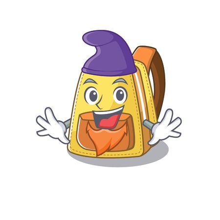 Funny kids school backpack cartoon mascot performed as an Elf