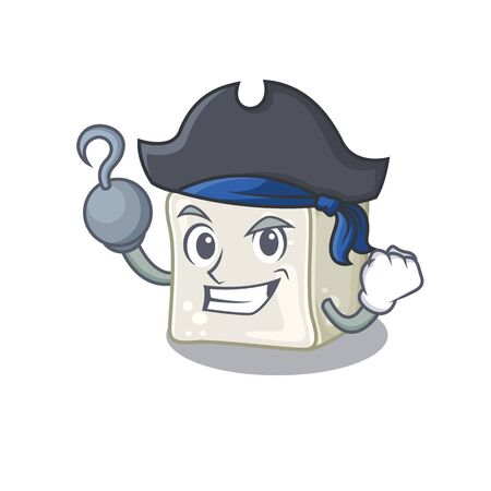 cool and funny sugar cube cartoon style wearing hat