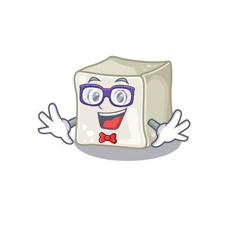 cartoon character of Geek sugar cube design