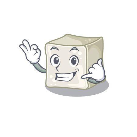 Call me funny sugar cube mascot picture style