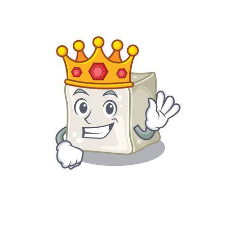 A stunning of sugar cube stylized of King on cartoon mascot style