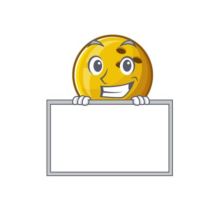 A cute picture of bowling ball grinning with board. Vector illustration Illustration