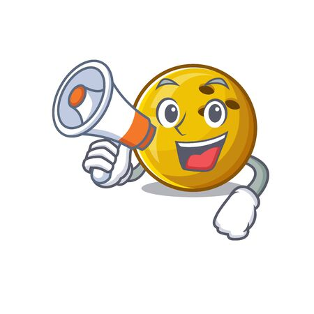 An icon of bowling ball having a megaphone