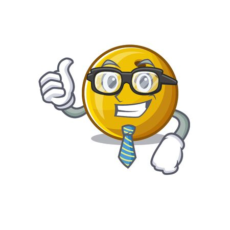 cartoon character of Businessman bowling ball wearing glasses. Vector illustration