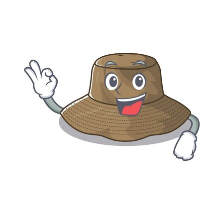 A picture of bucket hat making an Okay gesture