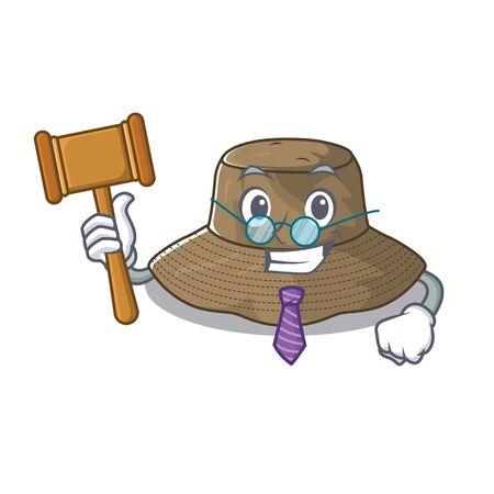 Smart Judge bucket hat in mascot cartoon character style