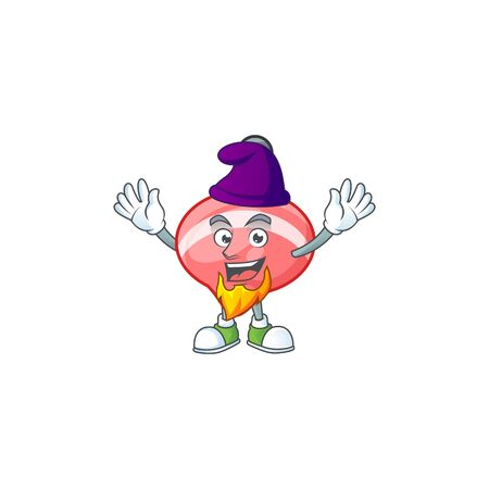 Cute chinese red tops toy mascot cartoon dressed as an Elf. Vector illustration