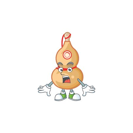 Chinese wine bottle cartoon character design on a surprised gesture. Vector illustration