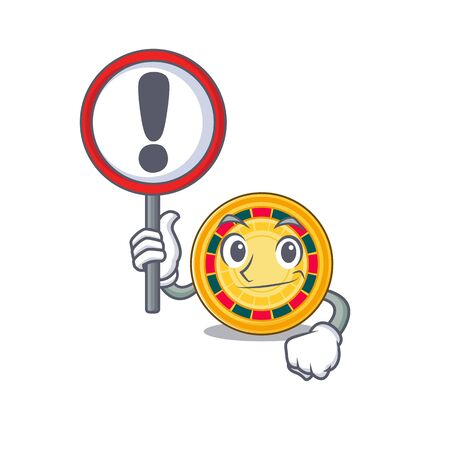 cool and funny roulette raised up a Sign. Vector illustration