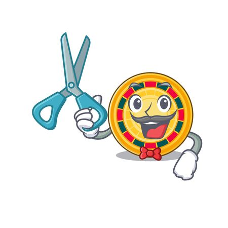 Smiley Funny Barber roulette cartoon character design style