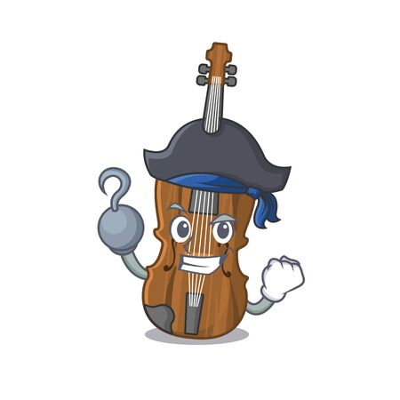 cool and funny violin cartoon style wearing hat. Vector illustration