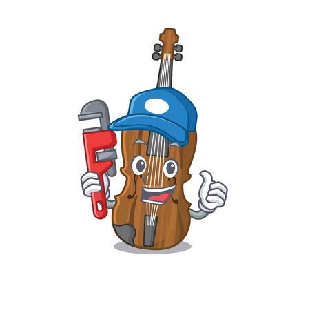 Cool Plumber violin on mascot picture style