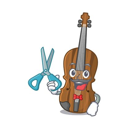 Smiley Funny Barber violin cartoon character design style