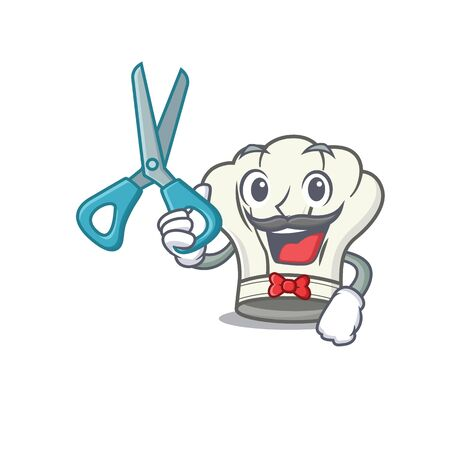 Smiley Funny Barber cook hat cartoon character design style. Vector illustration 向量圖像