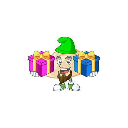 Cute pierogi cartoon mascot style with Tongue out