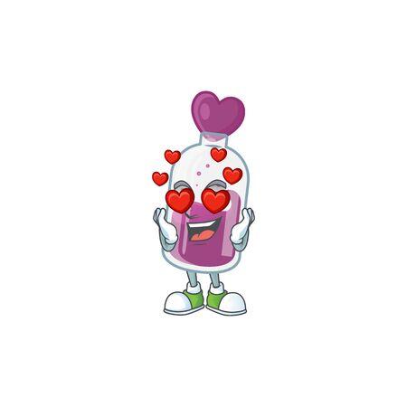 falling in love cute purple potion cartoon character design