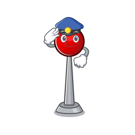 Antenna Cartoon mascot performed as a Police officer