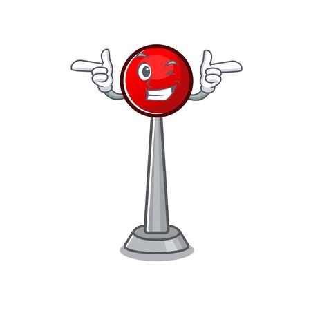 mascot cartoon design of antenna with Wink eye. Vector illustration