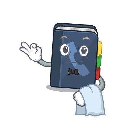 Annuaire téléphonique convivial Le personnage se présente comme un personnage de serveur. Illustration vectorielle