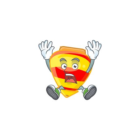 An icon character of chinese gold tops toy style with shocking gesture. Vector illustration  イラスト・ベクター素材