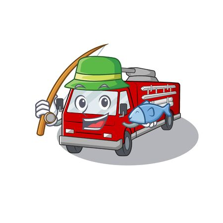 A Picture of happy Fishing fire truck design