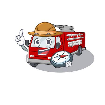 Fire truck stylized Explorer having a compass