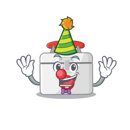 Funny Clown first aid kit cartoon character mascot design